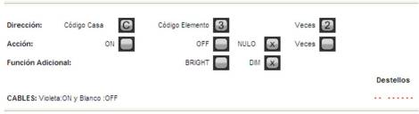 Programación SAIX12 como doble pulsador. Un pulsador enciende y el otro apaga.