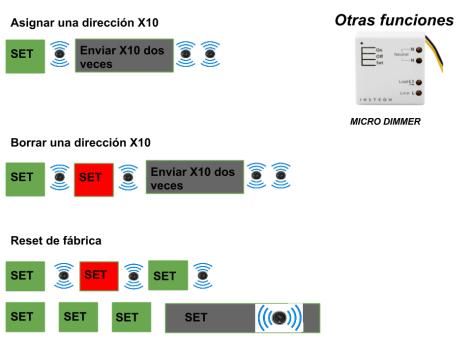 Micro módulo Dimmer Insteon otras funciones