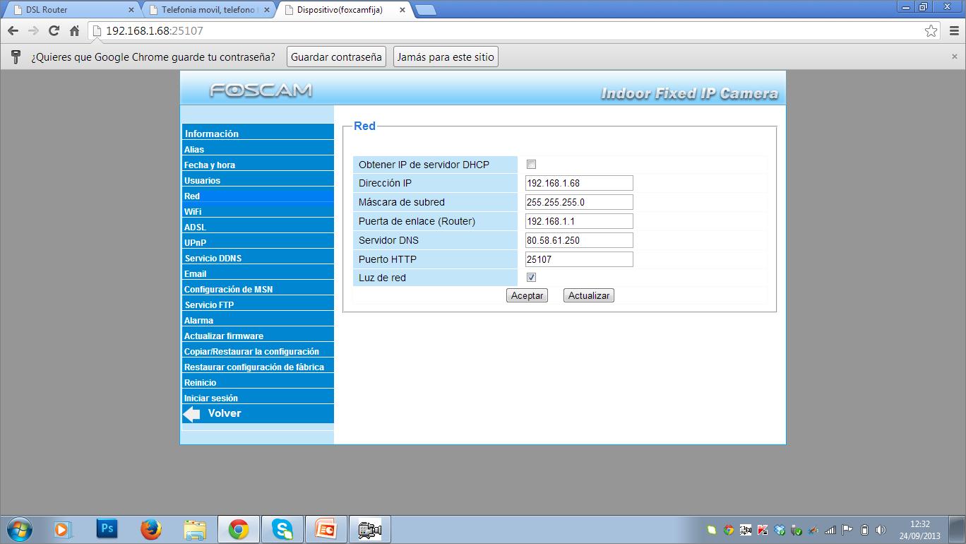 Configuración IP fija en cámara Foscam