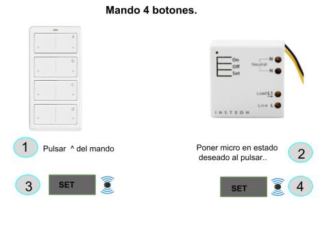 Programar mando 4 botones Insteon